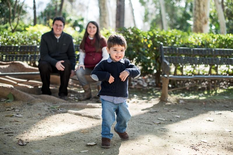Retrato de familia natural en Sevilla