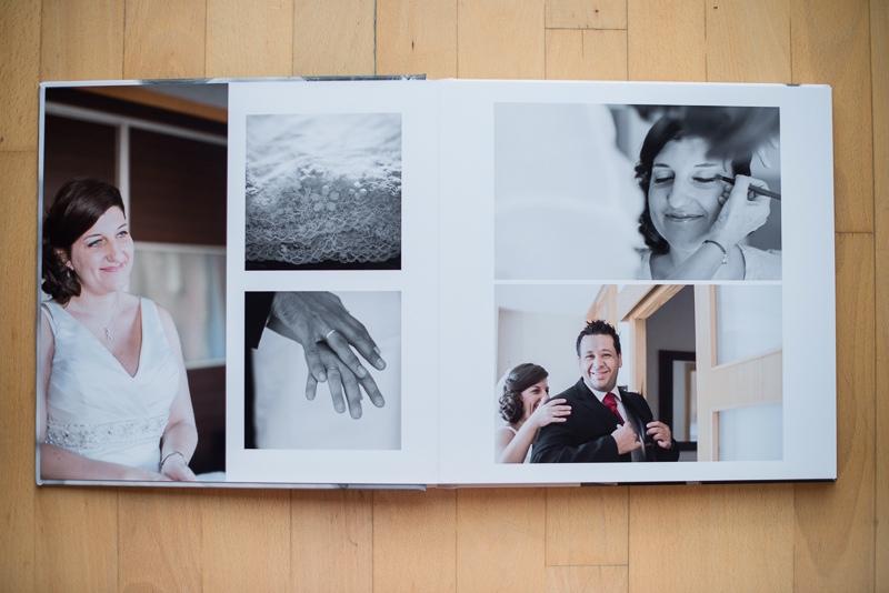 Bonito álbum de boda de buena calidad con formato cuadrado en Ceuta