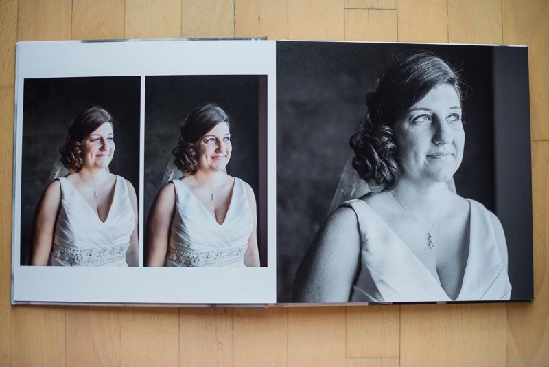 Álbum de boda cuadrado con diseño elegante y minimalista