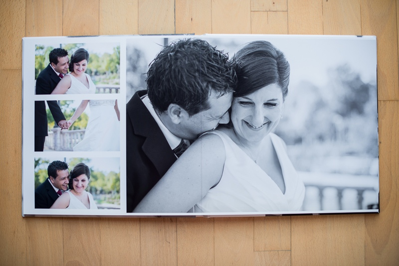 Álbum de boda con formato libro de excelente calidad y diseño