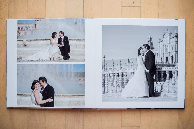 Álbum de boda digital minimalista en Ceuta