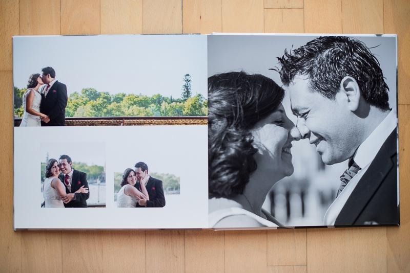 Maquetación minimalista y elegante para álbum de boda digital