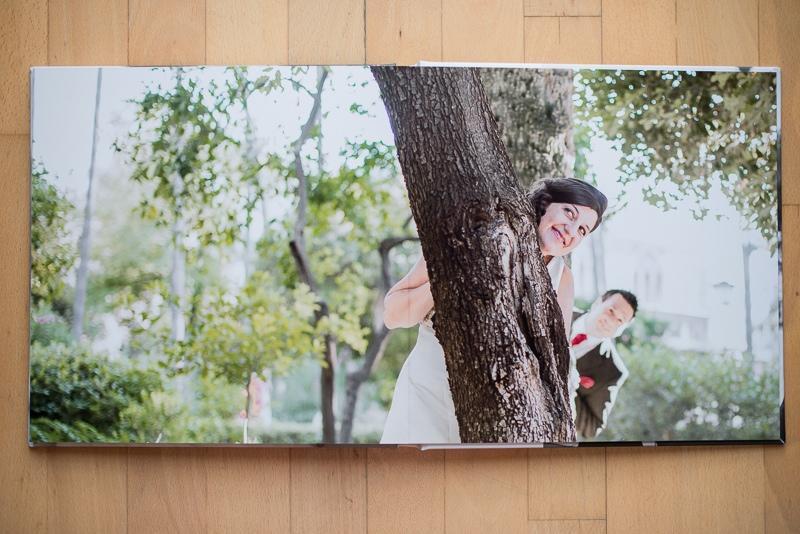 Fotografía de boda en página de abertura completa