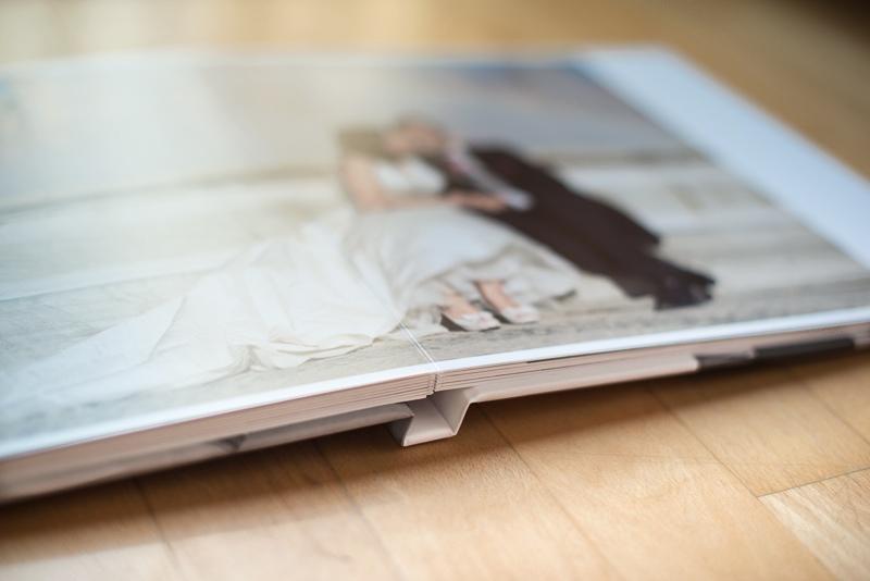 Páginas de álbum de boda elegante y de calidad