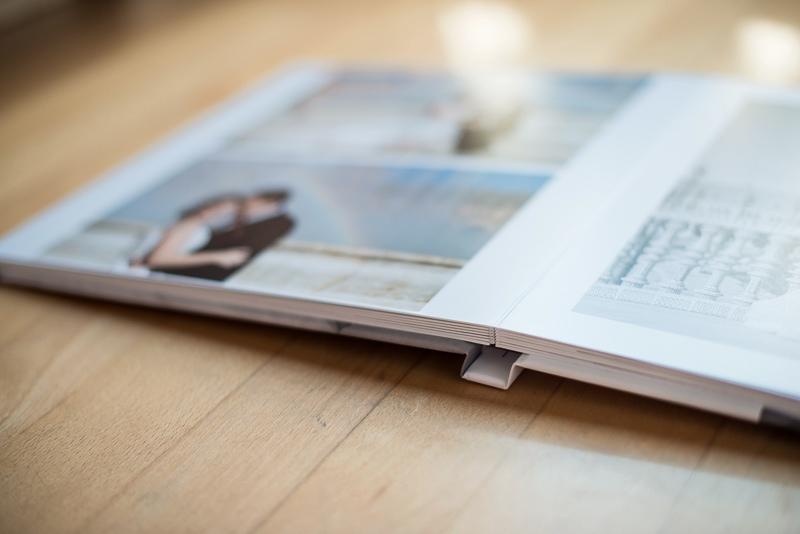 Hojas de álbum digital de boda con formato libro