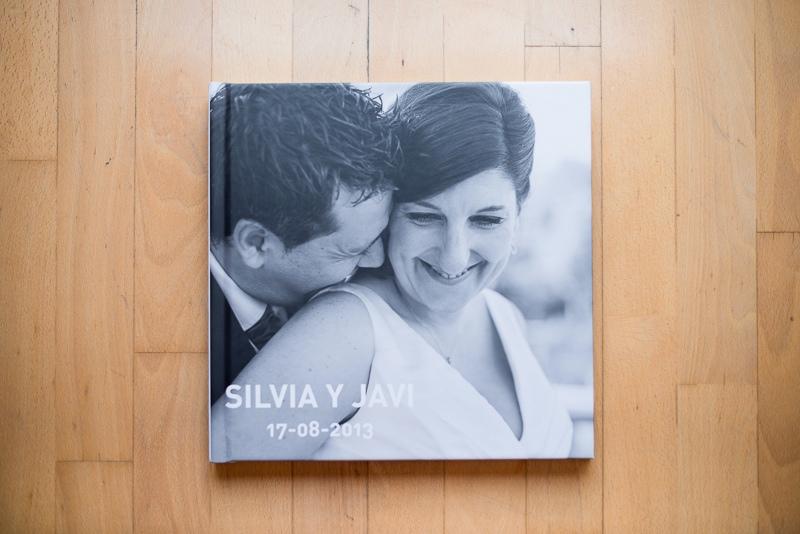 Portada de álbum de boda
