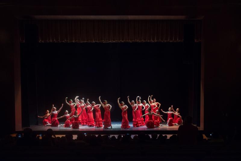 Recital de baile flamenco en el teatro florida de Algeciras