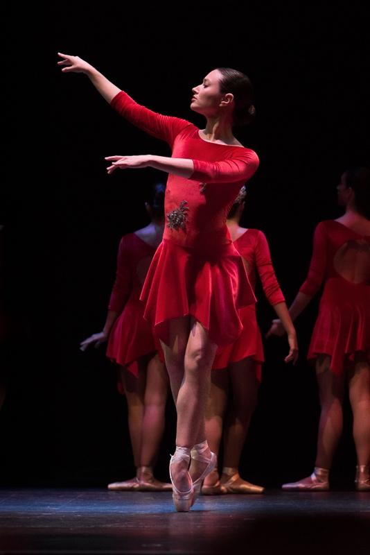 Fotografía de bailarina en puntas en Algeciras