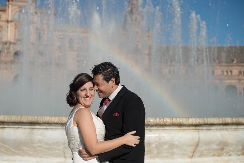 Fotografia de boda original y creativa sin posados