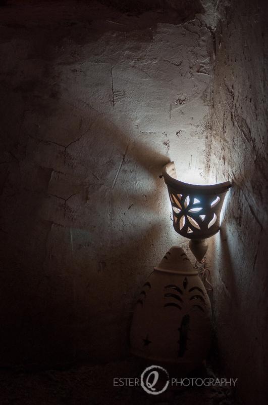 Viaje a Marruecos, detalle de lámpara decorativa en Skoura, Ouarzazate
