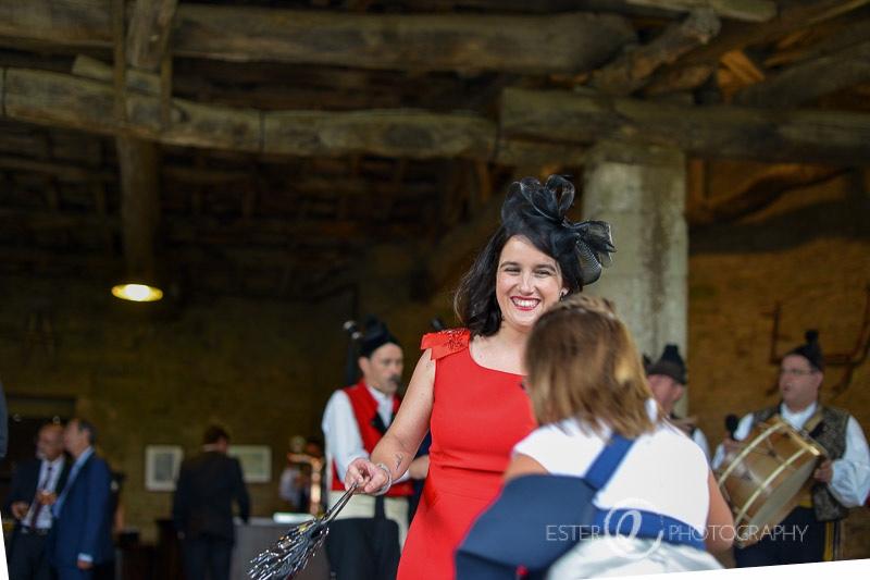 Gaiteros en boda en pazo de A Coruña