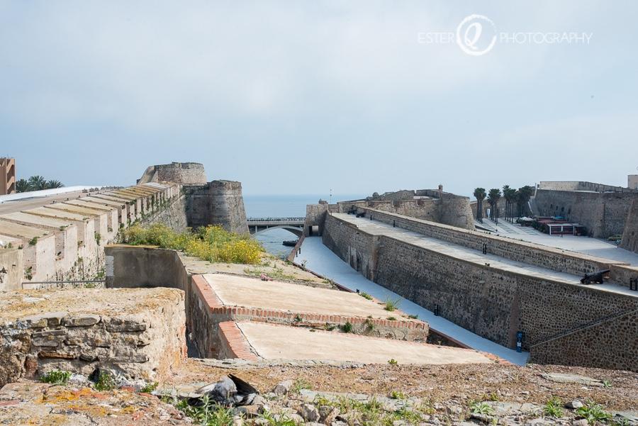 Vista panorámica desde la cubierta de las murallas reales de Ceuta