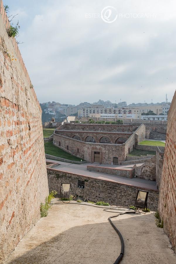 Panorámica de las Murallas Reales de Ceuta desde la cubierta