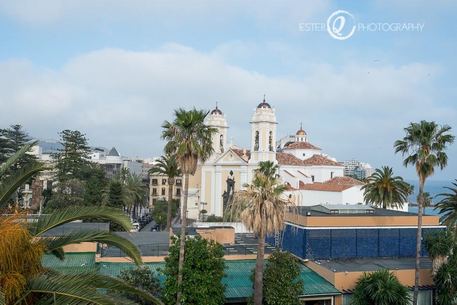Panorámica de la catedral desde la cubierta de las Murallas Reales de Ceuta