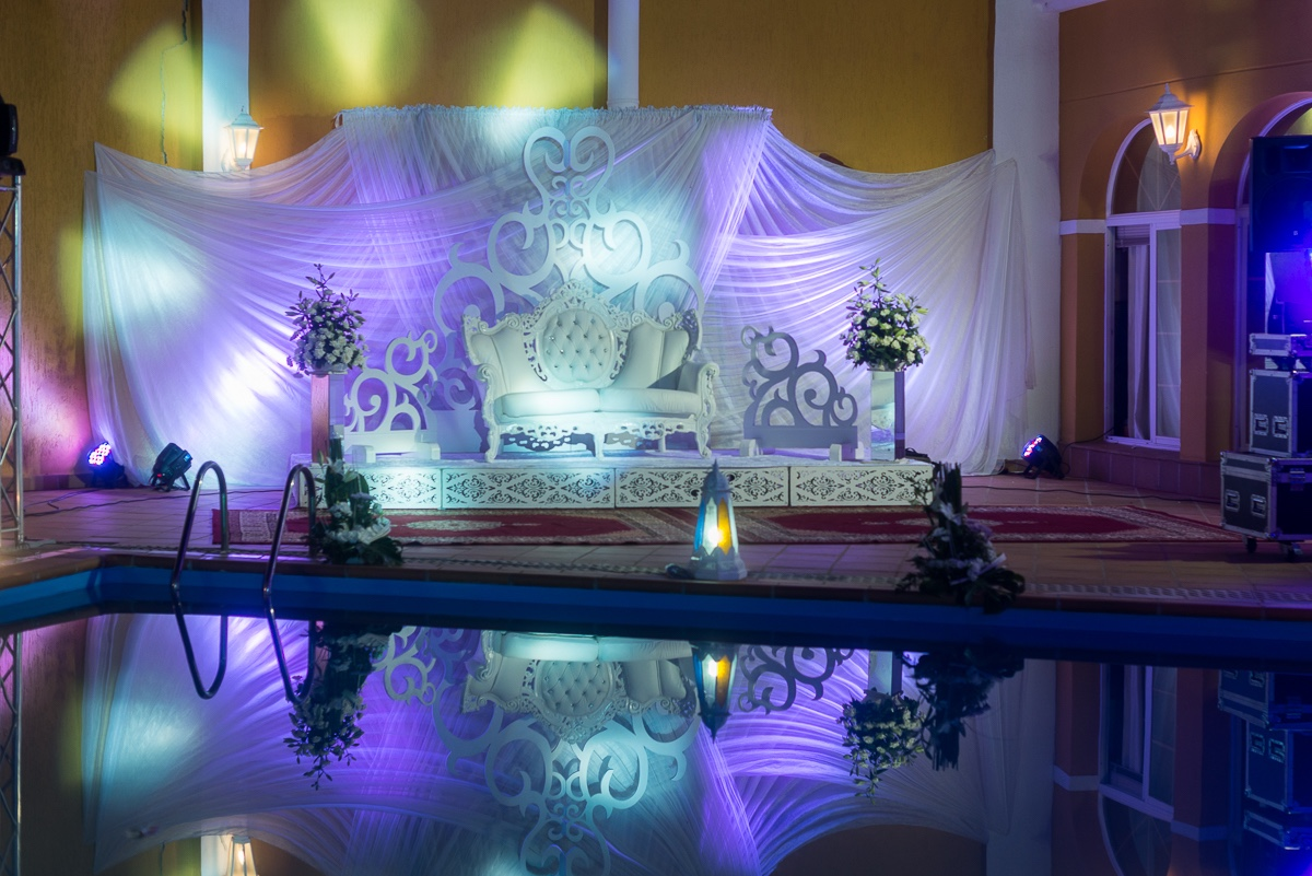 Trono de tercer día de boda musulmana