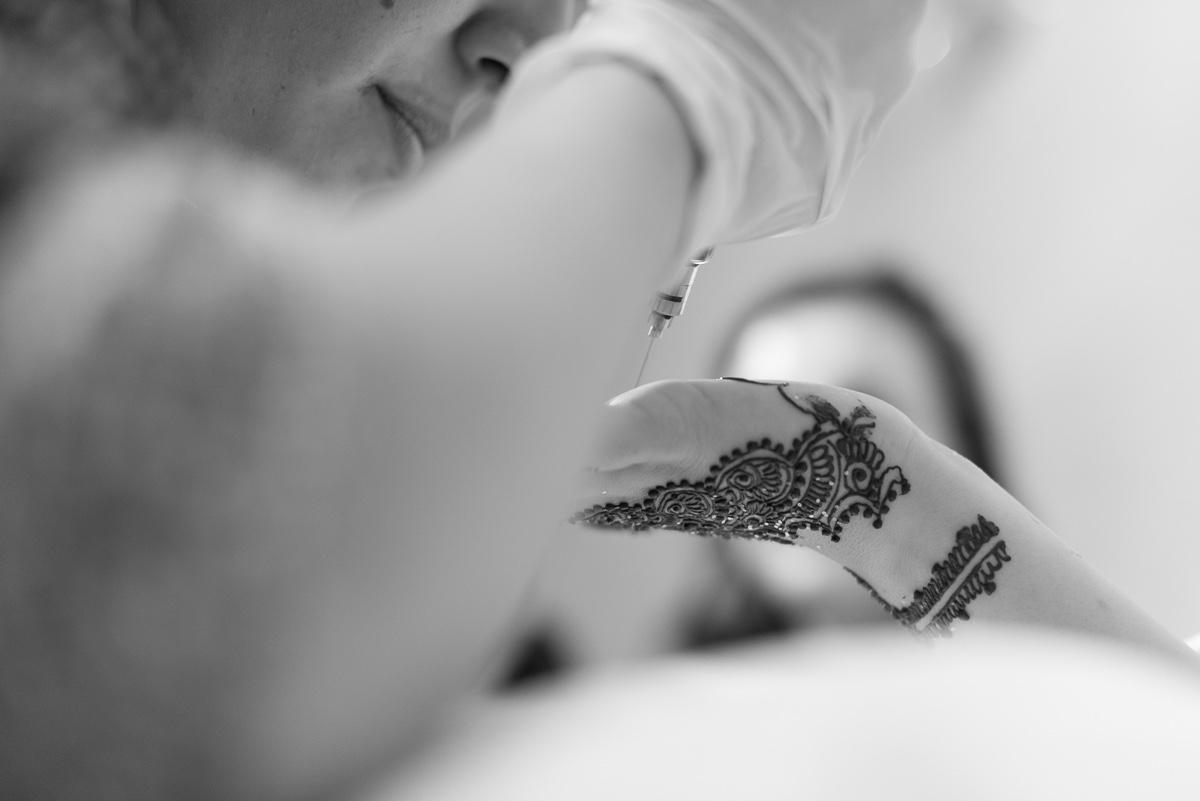 Ceremonia henna en boda musulmana en Ceuta