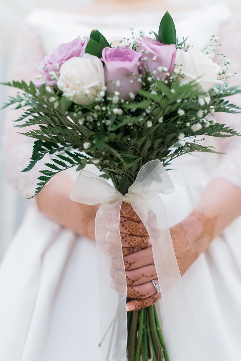 Ramo de novia de las flores de Anais en boda musulmana de Ceuta