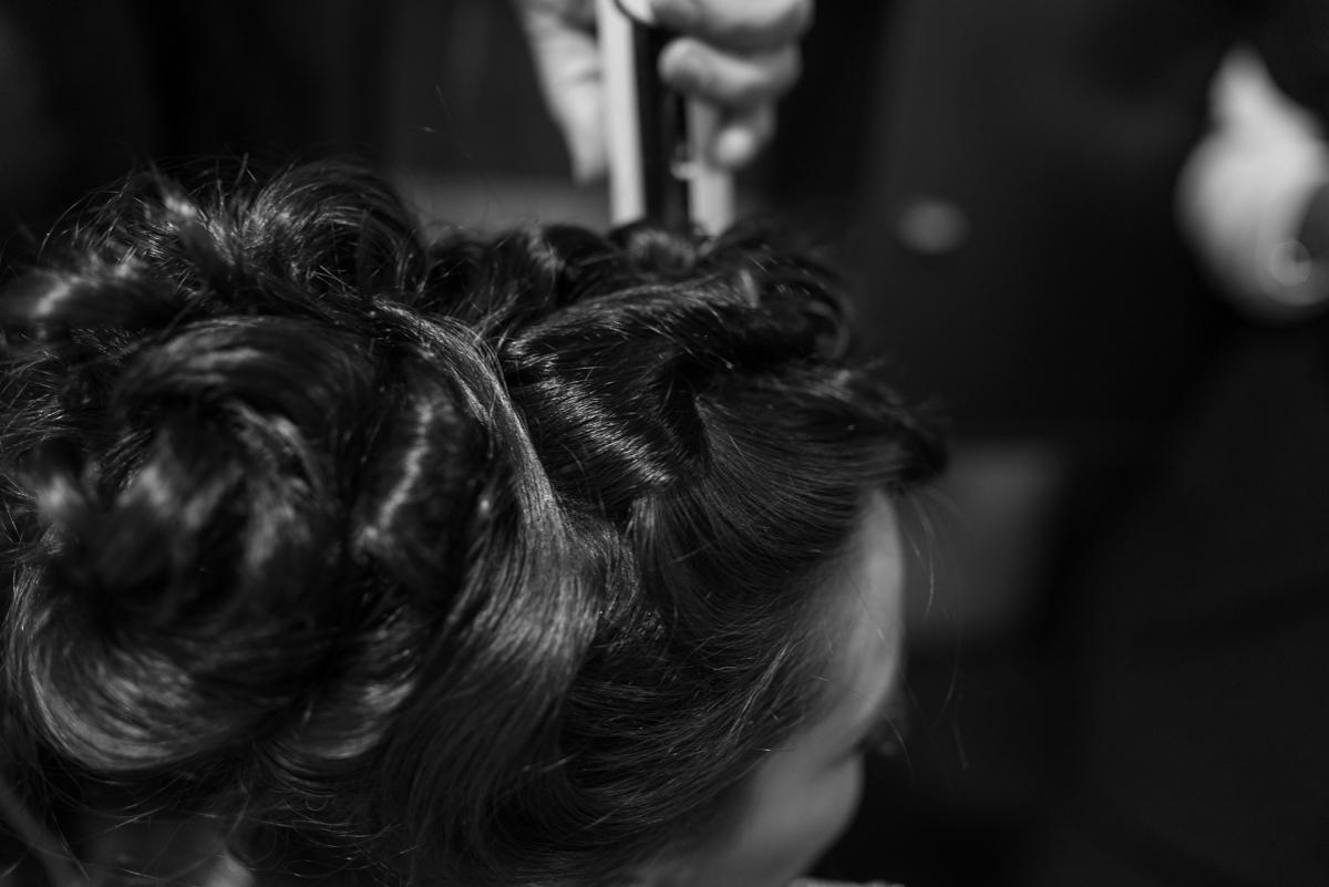 Fotografía de detalle del peinado de boda musulmana realizado por ziana Farida en Ceuta y Castillejos