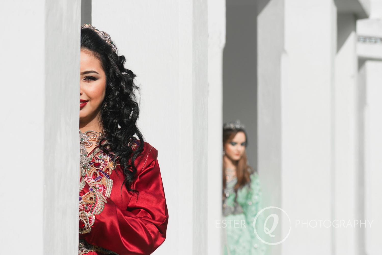 Fotografía creativa de boda musulmana en Ceuta