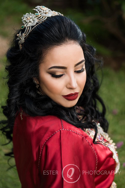 Retrato de novia musulmana en boda de Ceuta