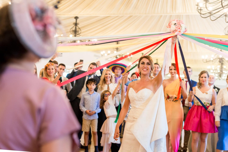 Juego lazos para solteras ramo de novia