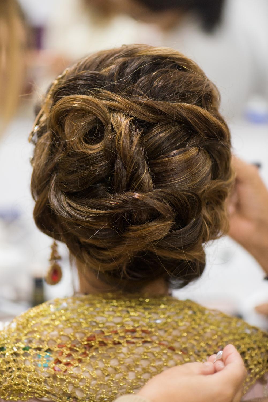 Peinado recogido de novia con ziana Farida de Ceuta